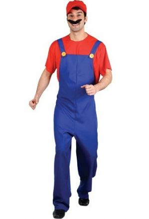- Plus size Super Mario Funny Plumber Fancy Dress Costume